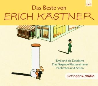 Das Beste von Erich Kästner, 3 Audio-CDs