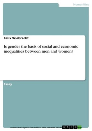 Is gender the basis of social and economic inequalities between men and women?