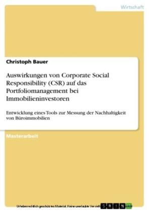 Auswirkungen von Corporate Social Responsibility (CSR) auf das Portfoliomanagement bei Immobilieninvestoren