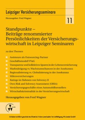 Standpunkte - Beiträge renommierter Persönlichkeiten der Versicherungswirtschaft in Leipziger Seminaren