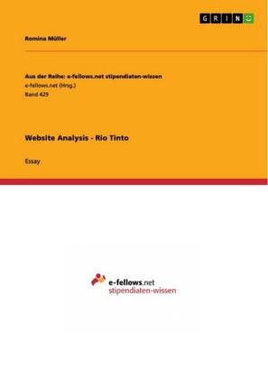 Website Analysis - Rio Tinto