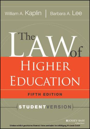 The Law of Higher Education, 5th Edition
