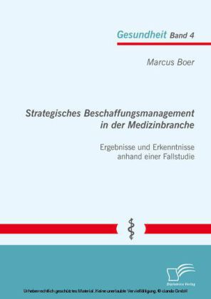 Strategisches Beschaffungsmanagement in der Medizinbranche: Ergebnisse und Erkenntnisse anhand einer Fallstudie