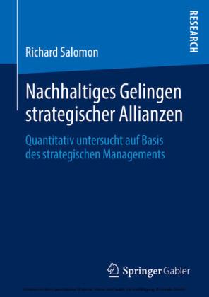 Nachhaltiges Gelingen strategischer Allianzen
