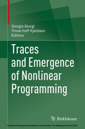 Traces and Emergence of Nonlinear Programming