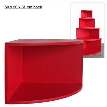 Eck-Regal, matt-rot, 50 x 50 cm