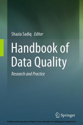 Handbook of Data Quality