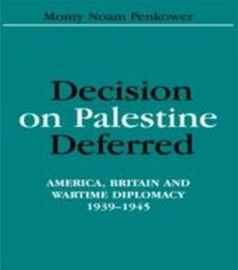 Decision on Palestine Deferred
