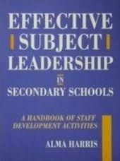 Effective Subject Leadership in Secondary Schools