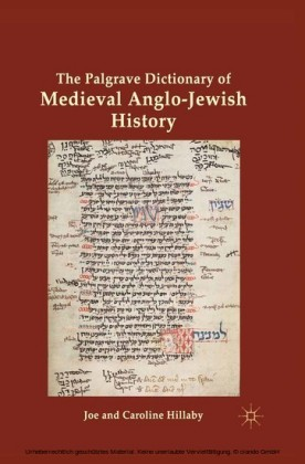 The Palgrave Dictionary of Medieval Anglo-Jewish History