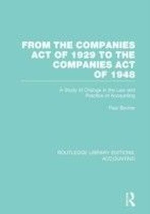 From the Companies Act of 1929 to the Companies Act of 1948 (RLE: Accounting)