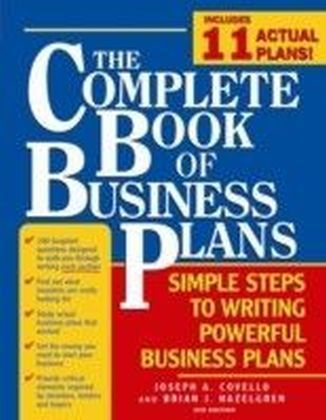 Complete Book of Business Plans