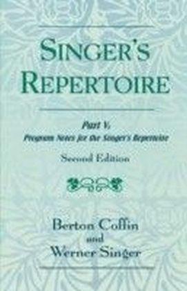 Singer's Repertoire, Part V