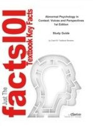 e-Study Guide for: Abnormal Psychology in Context: Voices and Perspectives by David Sattler, ISBN 9780395874516
