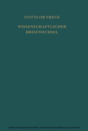 Nachgelassene Schriften und Wissenschaftlicher Briefwechsel / Wissenschaftlicher Briefwechsel