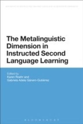 Metalinguistic Dimension in Instructed Second Language Learning