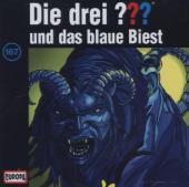 Die drei ??? und das blaue Biest, 1 Audio-CD Cover