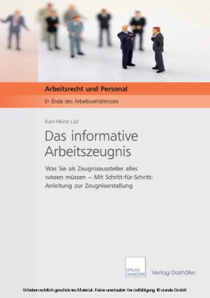 Das informative Arbeitszeugnis-Download PDF