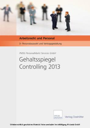 Gehaltsspiegel Controlling 2013 - Download PDF