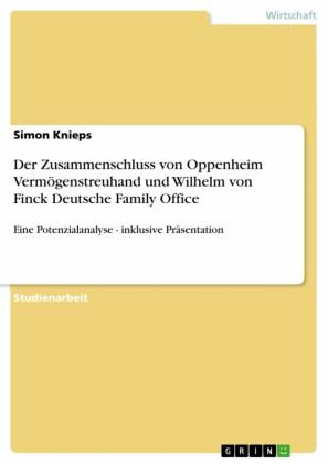 Der Zusammenschluss von Oppenheim Vermögenstreuhand und Wilhelm von Finck Deutsche Family Office