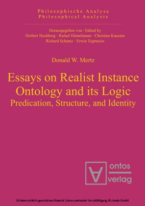 Essays on Realist Instance Ontology and its Logic