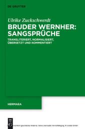 Bruder Wernher: Sangsprüche