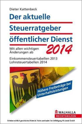 Der aktuelle Steuerratgeber öffentlicher Dienst 2014