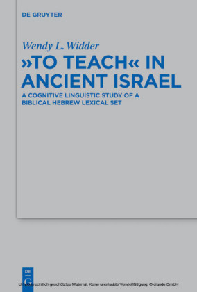 'To Teach' in Ancient Israel