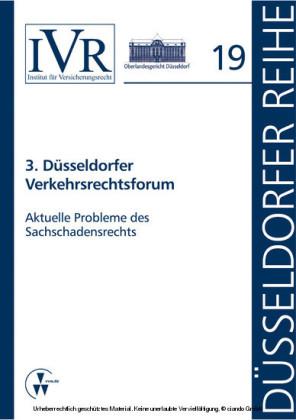 3. Düsseldorfer Verkehrsrechtsforum