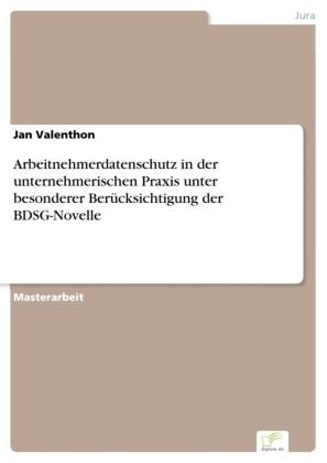 Arbeitnehmerdatenschutz in der unternehmerischen Praxis unter besonderer Berücksichtigung der BDSG-Novelle