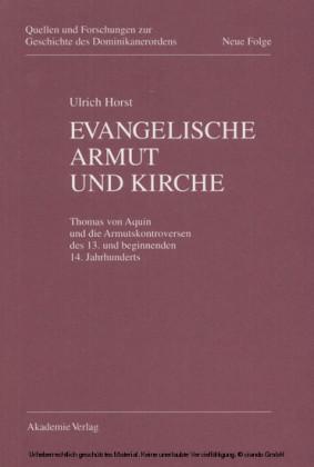 Evangelische Armut und Kirche