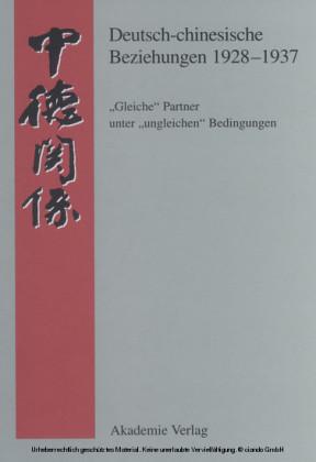Deutsch-chinesische Beziehungen 1928-1937