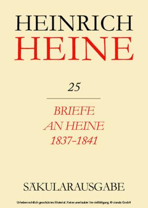 Briefe an Heine 1837-1841