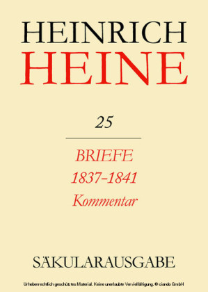 Briefe an Heine 1837-1841. Kommentar