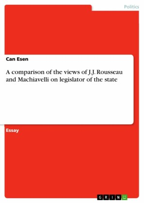 A comparison of the views of J.J. Rousseau and Machiavelli on legislator of the state