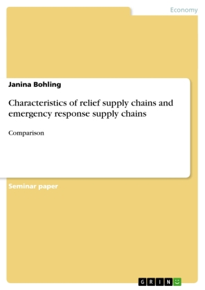 Characteristics of relief supply chains and emergency response supply chains