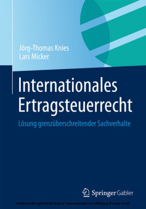Internationales Ertragsteuerrecht