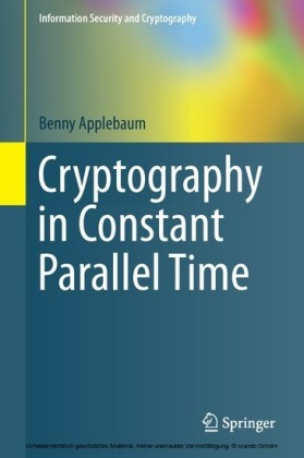 Cryptography in Constant Parallel Time