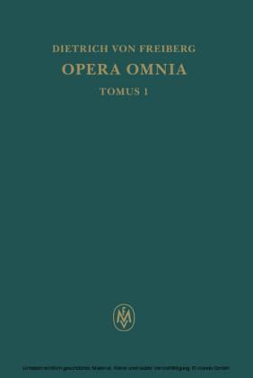 Opera omnia / Schriften zur Intellekttheorie