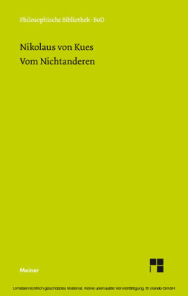Schriften in deutscher Übersetzung / Vom Nichtanderen