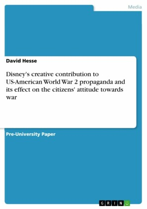 Disney's creative contribution to US-American World War 2 propaganda and its effect on the citizens' attitude towards war