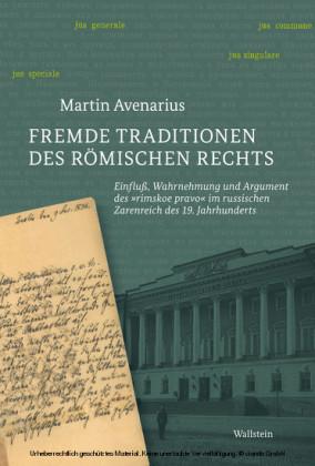 Fremde Traditionen des römischen Rechts
