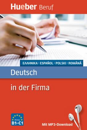 Deutsch in der Firma - Griechisch, Spanisch, Polnisch, Rumänisch