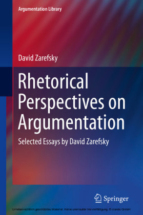 Rhetorical Perspectives on Argumentation
