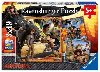 Dragons, Drachenreiter (Kinderpuzzle)