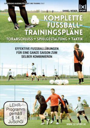Komplette Fußball-Trainingspläne: Torabschluß + Spielgestaltung + Taktik
