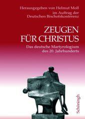 Zeugen für Christus, 2 Bde. Cover