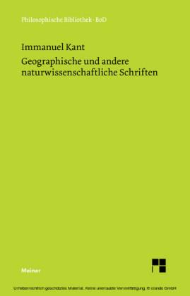 Geographische und andere naturwissenschaftliche Schriften