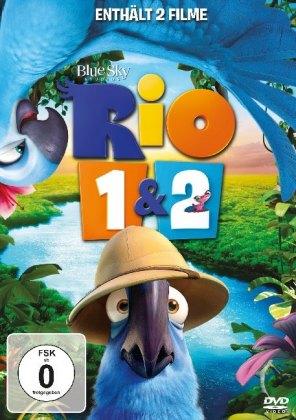 Rio / Rio 2 - Dschungelfieber, 2 DVDs