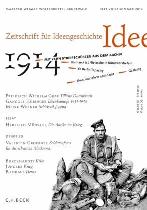 Zeitschrift für Ideengeschichte Heft VIII/2 Sommer 2014